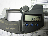 外径の測定